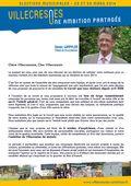 Lettre de candidature de Daniel WAPPLER pour les élections municipales de Villecresnes de 2014