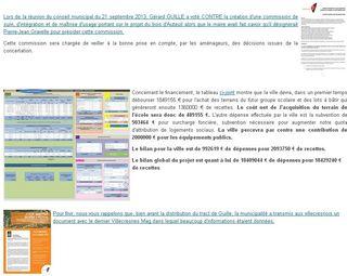 Les documents officiels qui attestent de nos positions sur le projet du Bois d'Auteuil