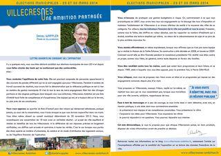 Lettre ouverte de Daniel WAPPLER de Villecresnes Ambition au candidat de l'opposition Gérard Guille de Bien Vivre à Villecresnes
