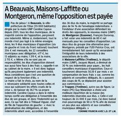 Parisien 20 mai 2014- indemnités élus